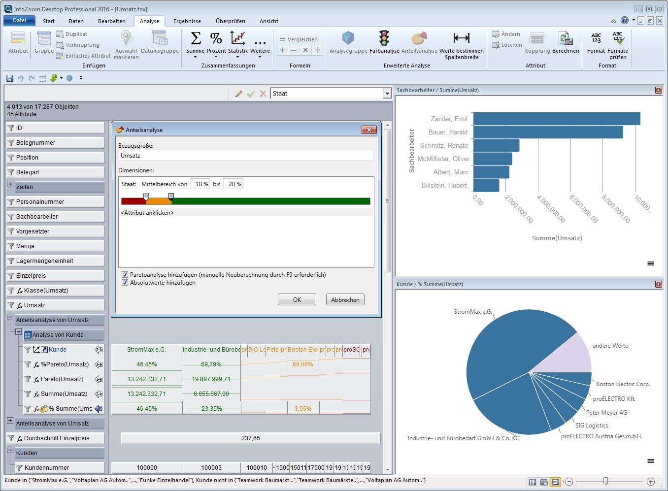 InfoZoom Screenshot Formeln und Diagramme
