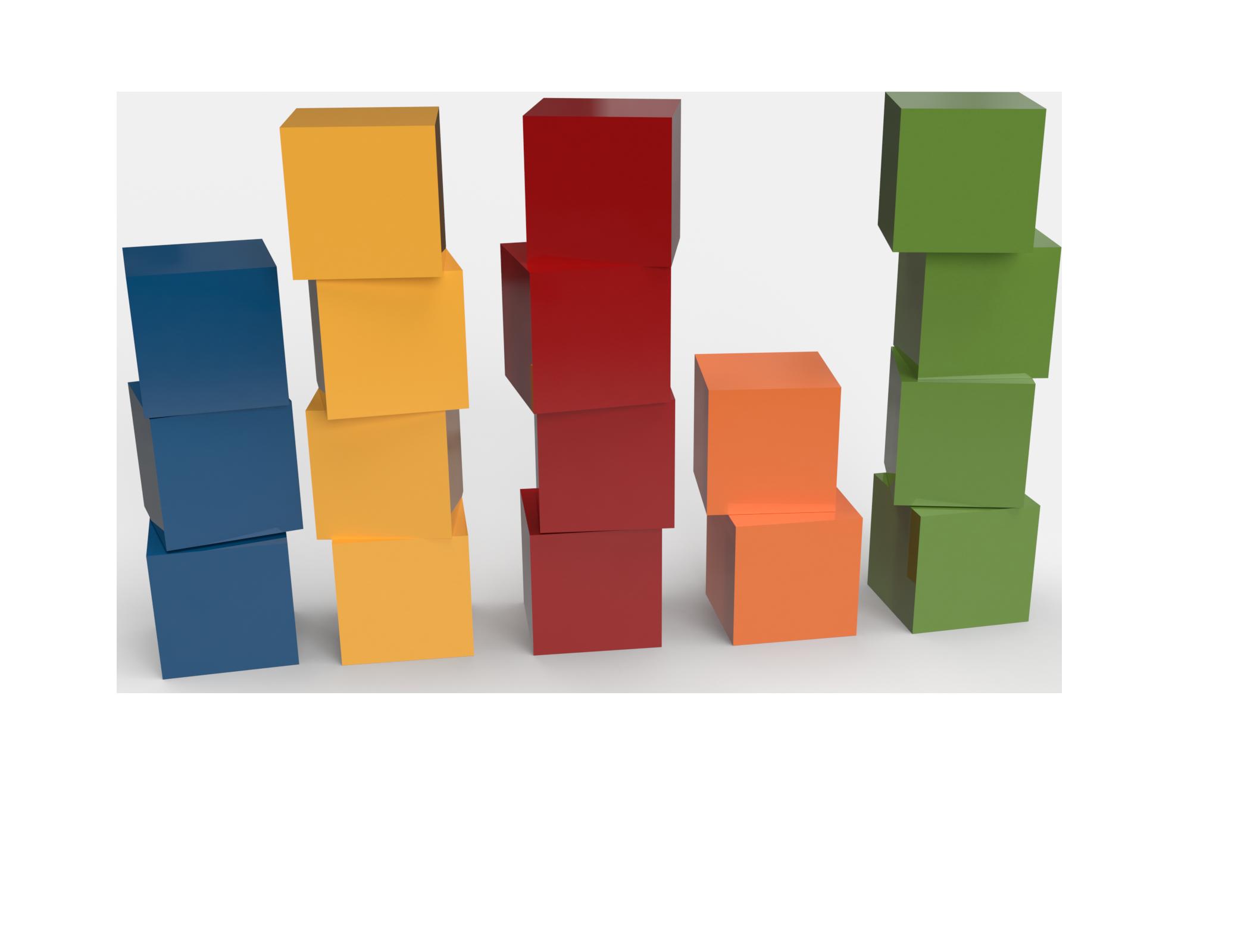 Data Profiling: Bausteine farblich sortiert